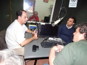 Merlo en Radio Chacabuco.
