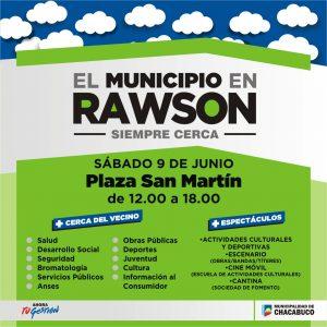 Afiche confeccionado para la vecina localidad, la cual pertenece al Partido de Chacabuco.