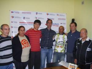 Conferencia de prensa en la secretaría de Deportes y Juventud.