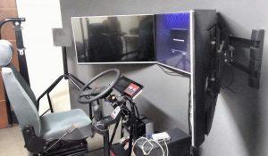 Simulador en la Cámara de Transportistas