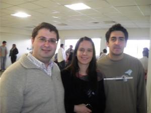 Marcos Scally y Alejandro Cieri junto a la diputada nacional Soledad Martínez.
