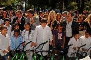Collia y Rabolini visitaron el municipio de Carmen de Areco.
