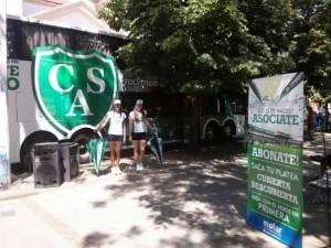 Campaña de socios del Verde de Junín en Chacabuco.