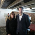 La senadora Malena Baro junto a Stefano.