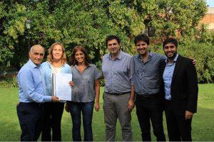 Concejales de Cambiemos con Salvador.