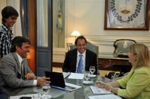 Skansi, Scioli y Alvarez Rodríguez.