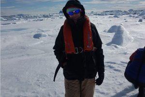 Teresa en la Antártida