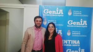 Eduardo Triberti y Mariana Pelucca.