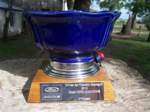 Trofeo que estaba en juego en Expoagro 2012.