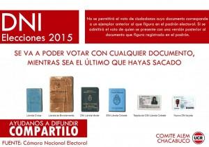 Documentos que se puede votar.