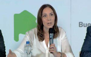 María E. Vidal en el anuncio.