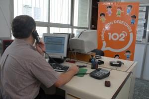 Línea telefónica 102 resolvió más de 1300 llamados por maltrato infantil en el último año.