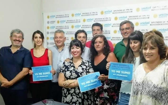 Barrientos junto a integrantes de la Red Nacional de Multisectoriales