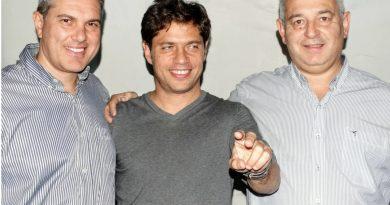Golía, Kicillof y Barrientos.