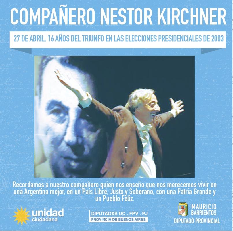 A 16 años del triunfo de Néstor Kirchner en las elecciones presidenciales del año 2003.