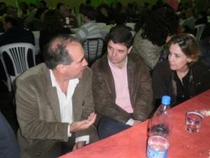 Gustavo Zuccari y Celina Sburlatti en Los Toldos.