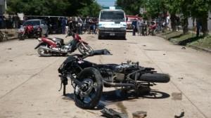 Imagen del accidente ocurrido hoy en Bragado.