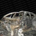 Estado en que quedó la BMW que intervino del accidente.