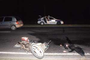 Imagen del accidente ocurrido ayer en Ruta 5.