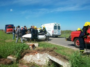 Imagen del accidente del vecino de Castilla Chiche Ruffa.
