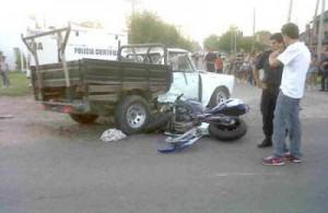 Imagen del trágico accidente en el camino al Balneario Municipal de Junín: un muerto.