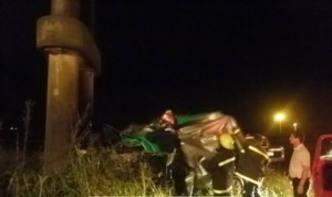 Imagen del auto accidentado. Foto: bragadoinforma.com.ar