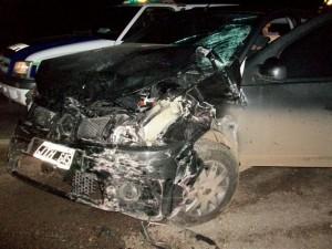 Otro de los autos involucrados en al accidente, se trata de un Renault Sandero.