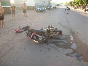 Estado en que quedó la Mondial 110cc.