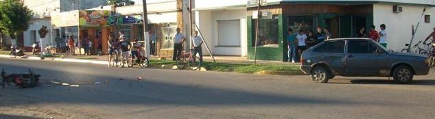 Imagen del accidente ocurrido en avenida Vieytes y Pasaje Moure.