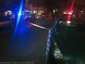 Imagen del accidente. Foto gentileza: Defensa Civil Chacabuco.