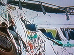 Uno de los costados de la combi. Imagen TV.