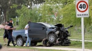 Imagen del accidente dónde perdió la vida ex vecino de Rawson en Bahía Blanca. Foto: lanueva.com.ar, Pablo Presti.