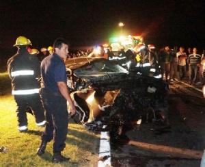 Estado en que quedó uno de los vehículos involucrados en el accidente.