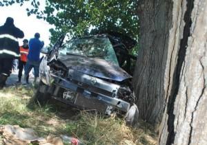 Imagen del auto que era conducido por Troyano.
