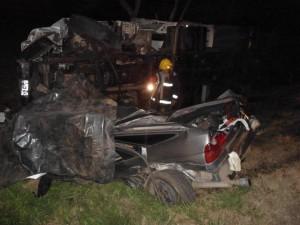 Imagen de los vehículos accidentados en el kilómetro 230 de la RN 7, a la altura de O¨Higgins. Foto: Defensa Civil Chacabuco.
