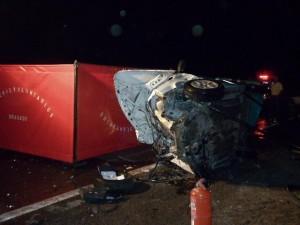 Imagen del Fiat Uno, dónde fallecieron dos personas de Comodoro Py.