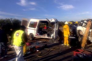 Imagen de uno de los vehículos involucrados en el fatal accidente. Foto: Diario El Litoral.