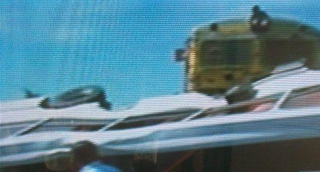 Imagen de TV del fatal accidente ocurrido en San Luis.