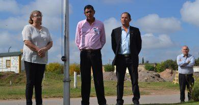 Acto en homenaje al excombatiente de Malvinas, Pedro Correa.