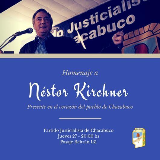 Invitación del Partido Justicialista de Chacabuco.