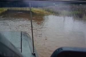 fotografía captada de un video, agua sobre RP 42, entre RP 32 y Ramal a Arribeños.