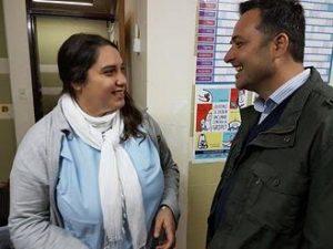 Aiola en el Hospital de Chacabuco.