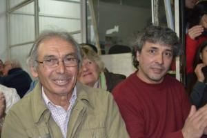 Jesús Roldán y Ermindo Rodríguez, referentes de Cambiemos en Rawson, junto a Mariana Díaz.