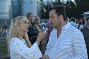del Castillo en la entrevista con Aiola.