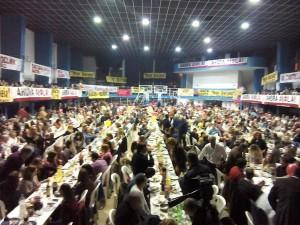Más de 1.000 personas le dieron su apoyo a Aiola.