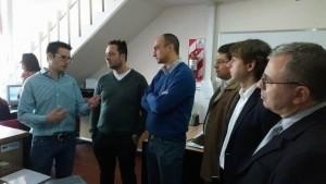 En el Centro de Monitoreo fueron recibidos por Mariano Deldivedro.