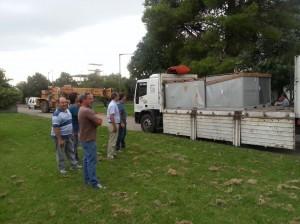 Llegó equipo de aire acondicionado para el Hospital de Chacabuco.