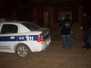 Personal de la Delegación de Tráfico de Drogas Ilícitas Junín en uno de los allanamientos.