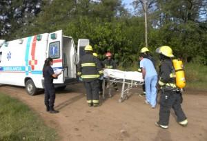 Graves quemaduras sufrió una mujer en Chivilcoy.