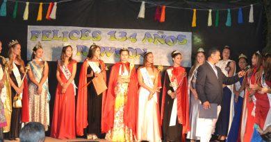 Reinas invitadas a la fiesta del 134º Aniversario de Rawson.